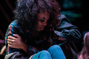 "A Luther student performs in ""Rent."""