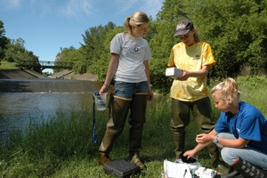 Luther faculty and student research the water quality in Northeast Iowa.