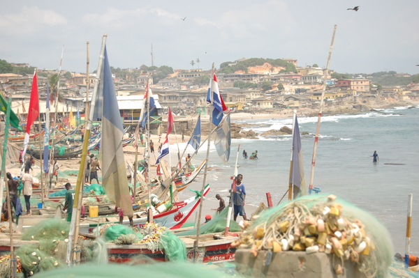 "Just outside the walls of the Cape Coast slave dungeons lies a vibrant fishing community. One could say that ""White Man's Beach"" has been retaken.<a href=""/reason/images/742716_orig.jpg"" title=""High res"">∝</a>"