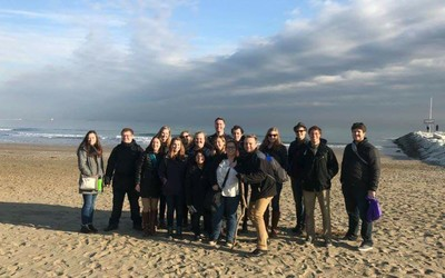 Our group at Lido Beach in Venice. Photo by Dr. Amy Weldon.