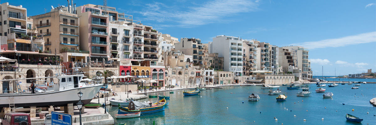 Malta's Spinola Bay, where each year Luther sends several students to study for a semester.