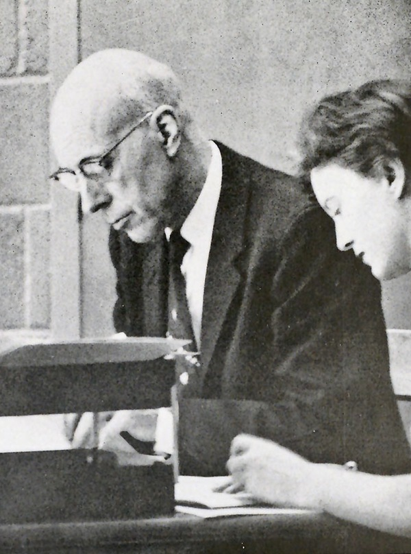 Dr. O. W. Qualley at work, Luther College Archives RG18