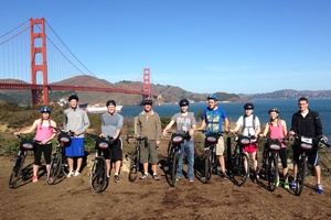 Preparing for a ride across the Golden Gate Bridge, JTerm 2014