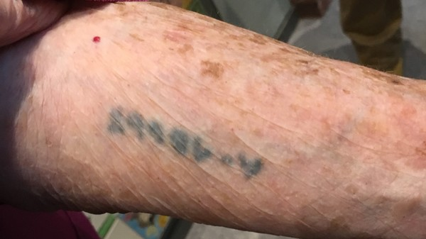 "Agi's tattoo from her time in Auschwitz<a href=""/reason/images/797745_orig.jpg"" title=""High res"">∝</a>"