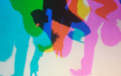 Colored shadows at the Exploratorium!