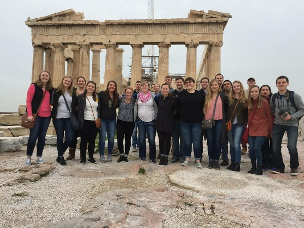 "Our class in front of the Parthenon.<a href=""/reason/images/797754_orig.jpg"" title=""High res"">∝</a>"