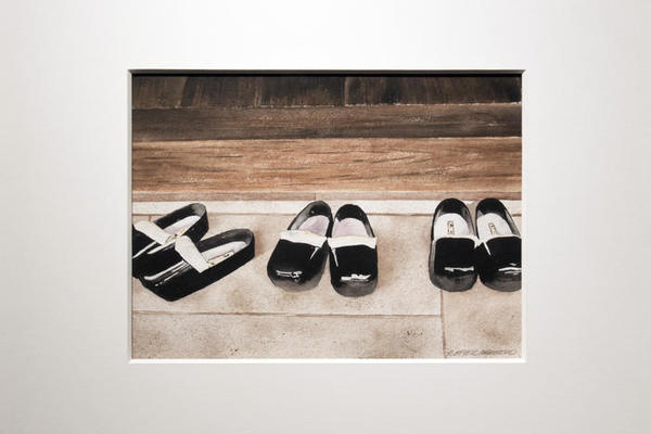 "Anna Maakestad, ""Images of Asia/Shinto Shoes"", 1996, FAC#1996.09.01"