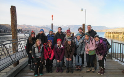 A group photo before we took the ferry across Lake Chelan to Holden Village.