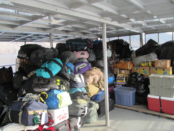 "All of our luggage plus food, the mail, and supplies for Holden Village are transported on a boat across Lake Chelan.<a href=""/reason/images/528764_orig.jpg"" title=""High res"">&prop;</a>"