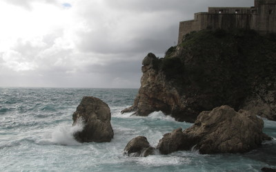There was hardly a bad view of the sea in Dubrovnik, and this was one of my favorites.