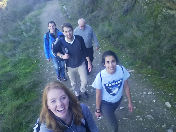 All of us hiking down. So blessed to have Mikayla's selfie stick!