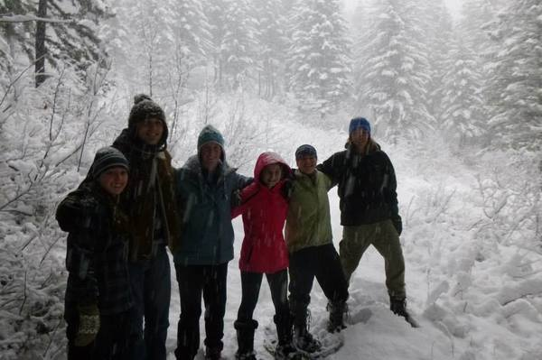 "Snowshoeing on a hike<a href=""/reason/images/528788_orig.jpg"" title=""High res"">&prop;</a>"