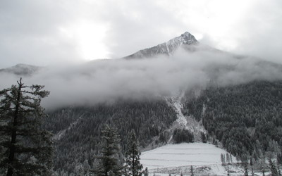 Buckskin Peak surrounded by fog