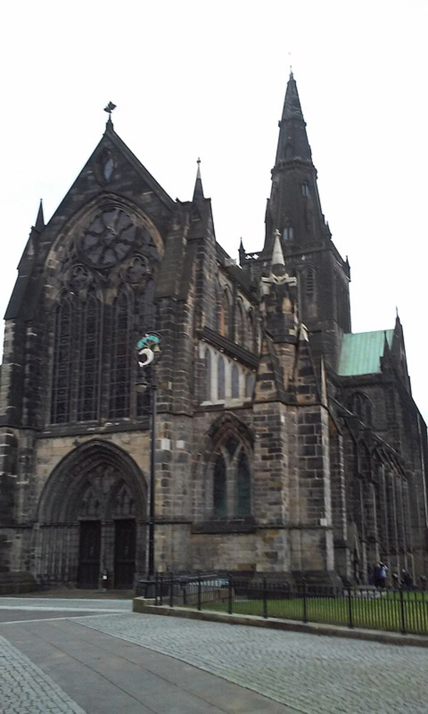 Glasgow Cathedral, where some students went to explore today.