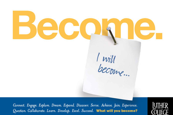 "Sticky notes that says, ""I will become..."""