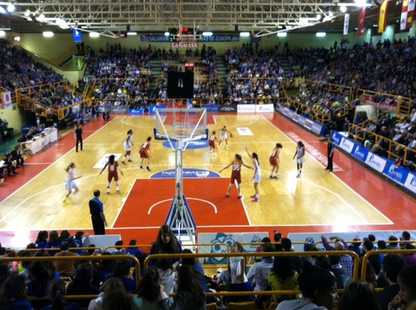 "The Salamanca (white jerseys) vs. Turkey basketball game.<a href=""/reason/images/522818_orig.jpg"" title=""High res"">&prop;</a>"