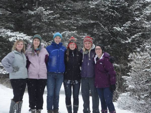 "A group of students on a hike to Ten Mile Falls<a href=""/reason/images/528829_orig.jpg"" title=""High res"">&prop;</a>"