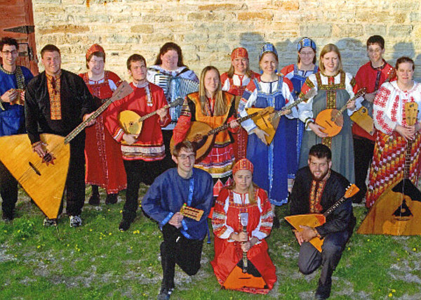 The 2005-06 Luther College Balalaika Ensemble.