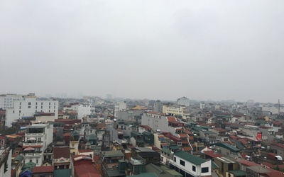 A rooftop view of Hanoi, the capital of Vietnam
