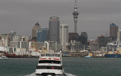 Auckland from the ocean.