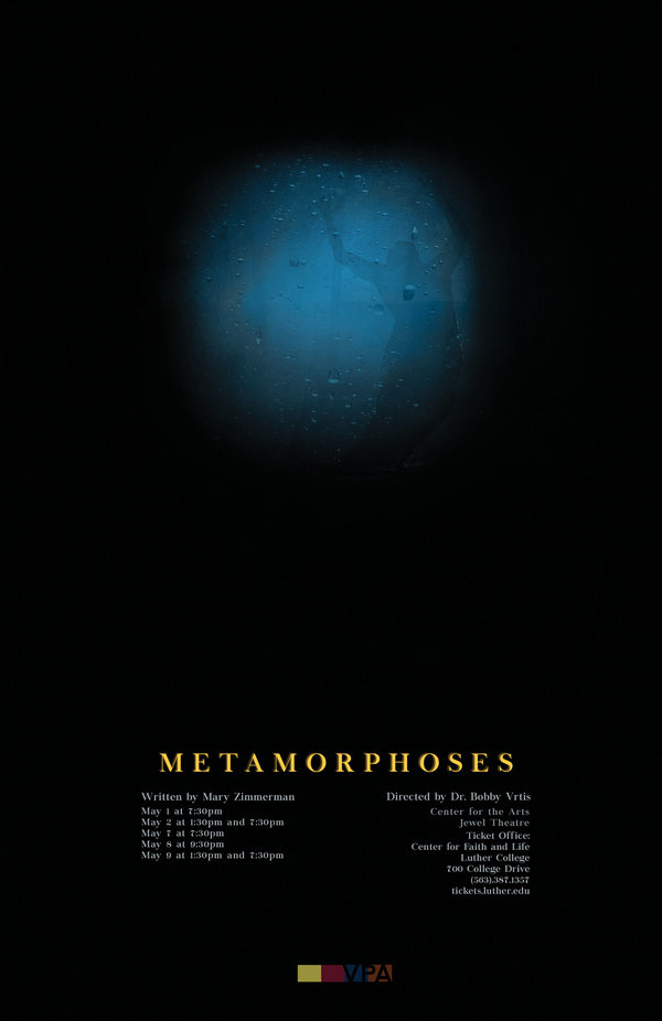 "Poster Luther College's production of ""Metamorphoses"""