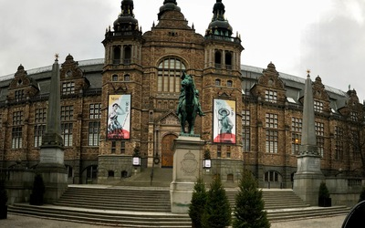 The front of the Norwegian Museum near the Vasamuseet.