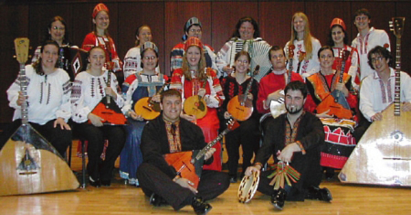 The 2011 Luther College Balalaika Ensemble.