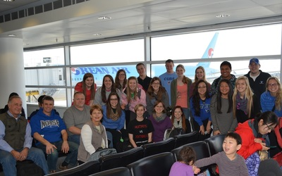 Cambodia group about to take off!