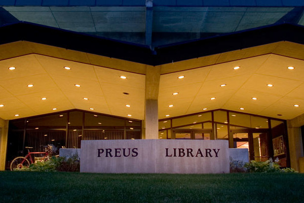 Entrance to Preus Library.