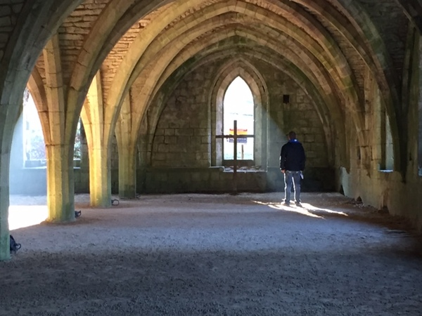 Ryan at Fountains Abbey