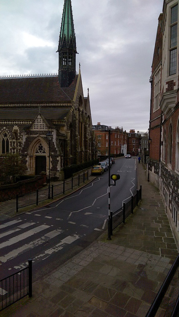 A street side view of Harrow School and its surrounding campus. Such a beautiful place.