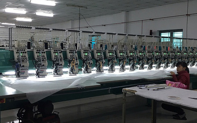 Image from the inside of the embroidery factory.