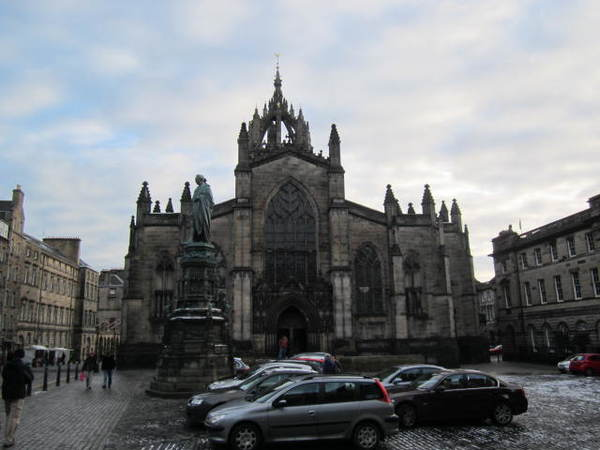 St. Giles Cathedral, where the group attended church this morning.