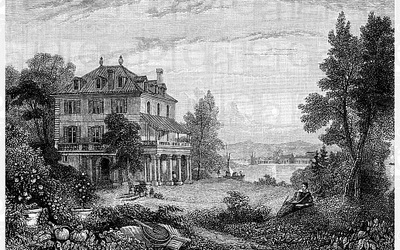 Villa Diodati: the house where the Shelleys and Lord Byron spent the summer of 1816, when Mary Shelley began work on her first novel, Frankenstein.