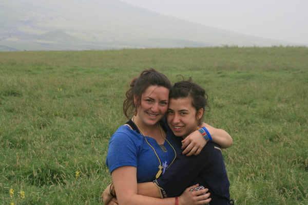"Hannah and Evie at Ngorongoro Crater.<a href=""/reason/images/602907_orig.jpg"" title=""High res"">∝</a>"