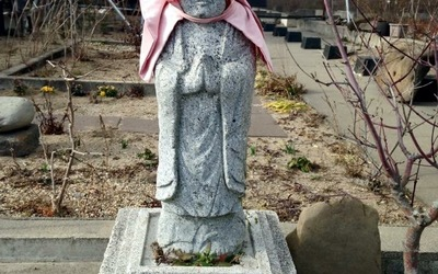 Statue at the Sendai memorial.