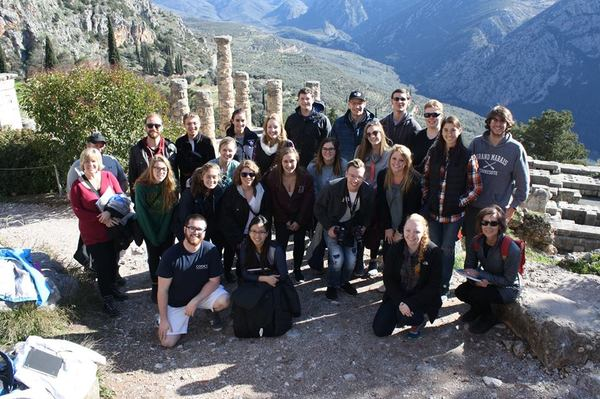 "The group at the Sanctuary of Apollo at Delphi.<a href=""/reason/images/740909_orig.jpg"" title=""High res"">∝</a>"