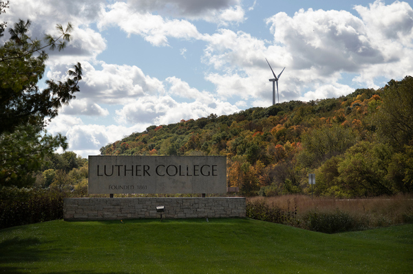 Luther College fall scene.