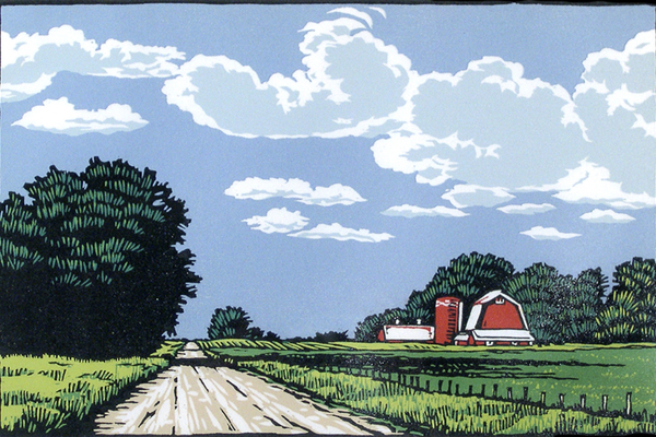 Lennis Moore, color woodblock printing