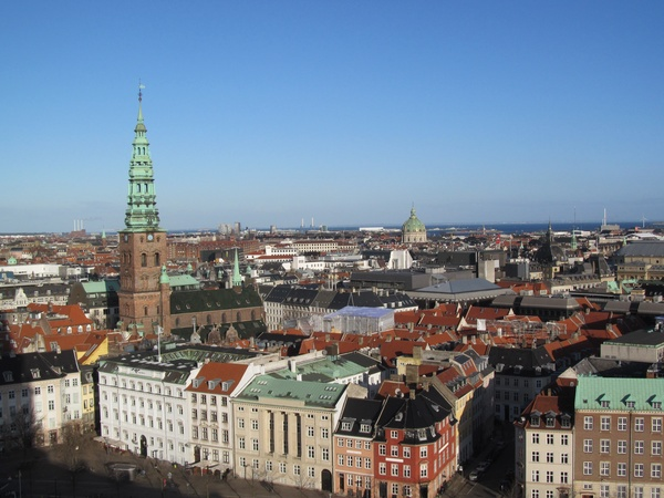 "The view of Copenhagen from the top of a tower.<a href=""/reason/images/599918_orig.jpg"" title=""High res"">∝</a>"
