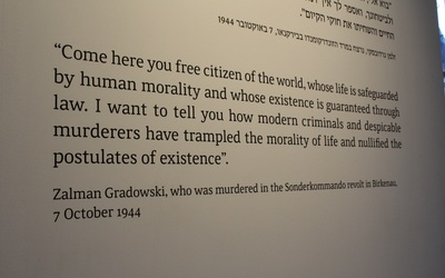 Quote shown at beginning of Auschwitz I Shoah Exhibit.