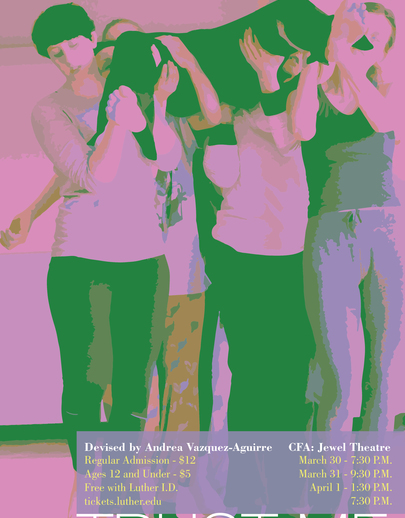 "Poster for the dance production of ""Trust Me""."