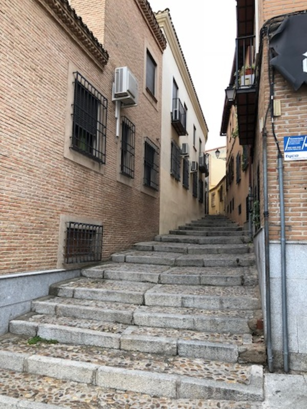 The streets in Toledo are tiny, but they are filled with history.