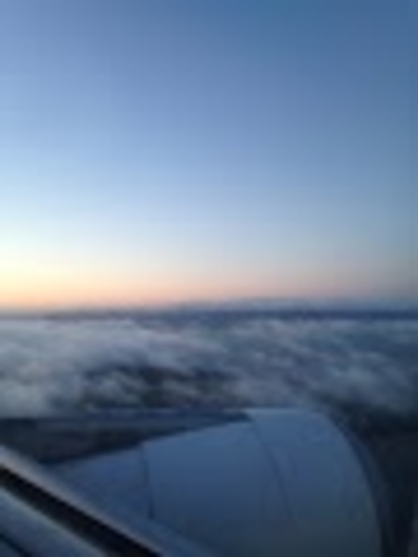 We had a 7 hr flight and the sunrise greeted us as we came into Ireland.