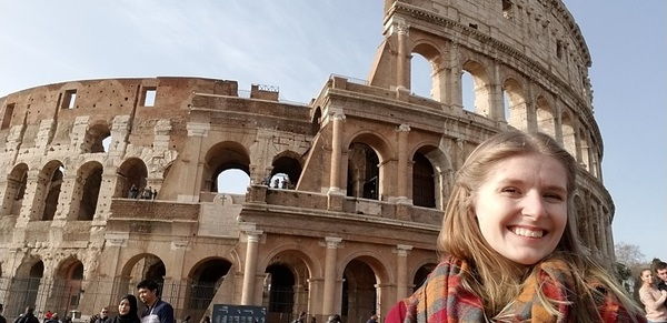 Me in front of the Roman Colosseum in Rome!