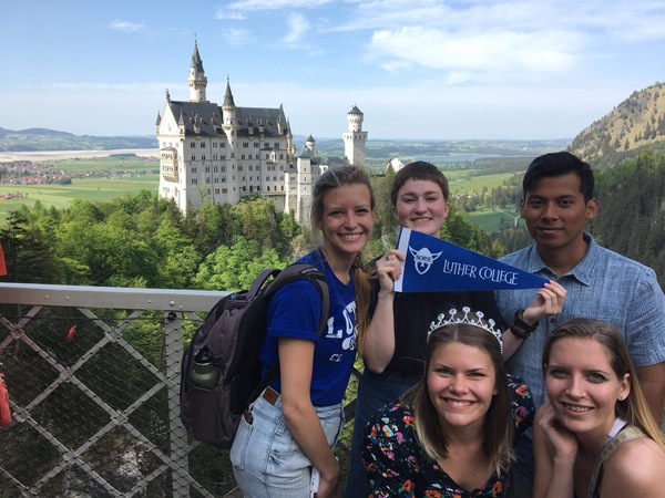 "Half of the group in front of the Neuschwanstein Castle! Supporting Luther of course.<a href=""/reason/images/814935_orig.jpg"" title=""High res"">&prop;</a>"