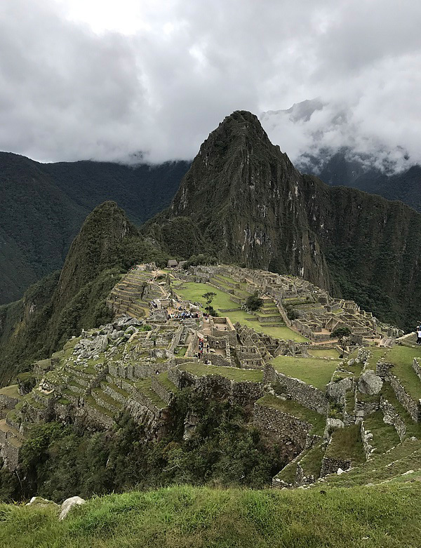 A view of Machu Picchu from the highest point on the mountain.