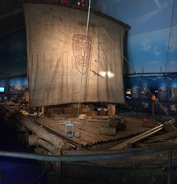"The raft from the Kon-Tiki expedition.<a href=""/reason/images/799947_orig.jpg"" title=""High res"">∝</a>"