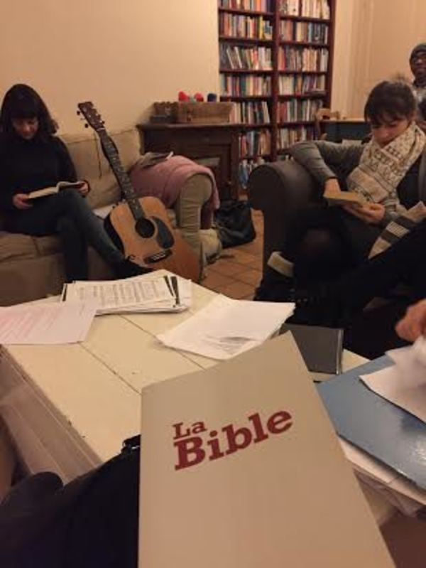 The Bible Study in the evening with Les Navigateurs. It was really fun to talk to the college students!