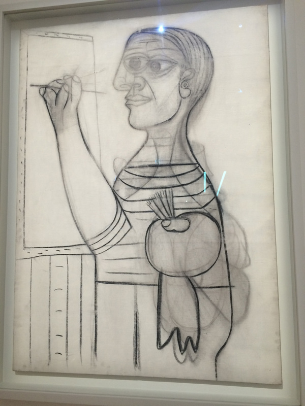 "Picasso's drawing of himself...as he draws himself<a href=""/reason/images/672962_orig.jpg"" title=""High res"">∝</a>"